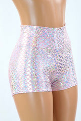 Silver & Pink Scale Fabric - Coquetry Clothing