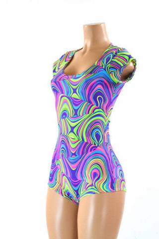 Glow Worm Cap Sleeve Romper - Coquetry Clothing