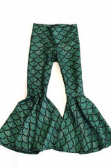 Kids Green Mermaid Flare Pants - Coquetry Clothing