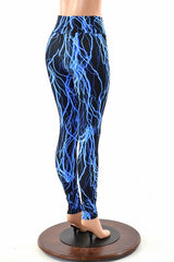Blue Lightning High Waist Leggings - Coquetry Clothing