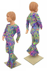 Girls Glow Worm Flares & Top Set - Coquetry Clothing