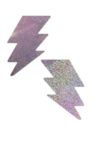 Lilac Holographic Bolt Pasties - Coquetry Clothing