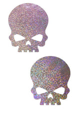 Lilac Skulls Pasties - Coquetry Clothing