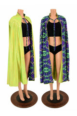 Lime & Neon Melt Reversible Hoodless Cape - Coquetry Clothing