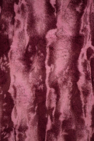 Merlot Minky Faux Fur Fabric - Coquetry Clothing