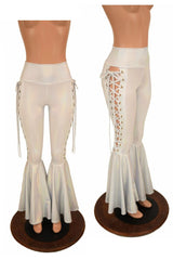Flashbulb Lace Up Bell Bottom Flares - Coquetry Clothing