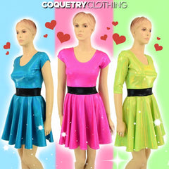 "Lime ""Buttercup"" Skater Dress - Coquetry Clothing"