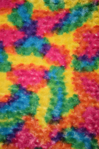 Rainbow Candy Minky Faux Fur Fabric - Coquetry Clothing