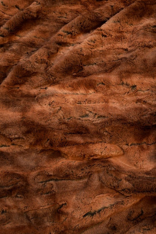 Red Fox Minky Faux Fur Fabric - Coquetry Clothing