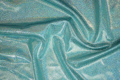Seafoam Holographic Spandex Fabric - Coquetry Clothing