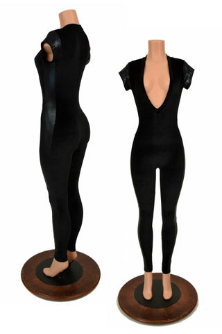 Cap Sleeve Side Panel Catsuit - Coquetry Clothing