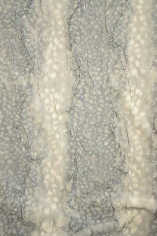 Silver Fawn Minky Faux Fur Fabric - Coquetry Clothing