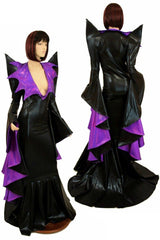 Mega Sharp Shoulder Demonica/Sorceress Gown - Coquetry Clothing