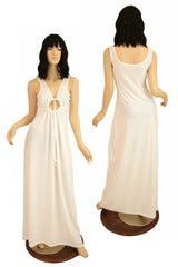 Sheer White Grecian Gown - Coquetry Clothing