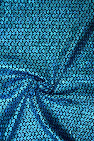 Aquamarine Mermaid Fabric - Coquetry Clothing