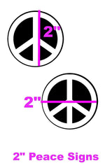 Black & White Peace Sign Pasties - Coquetry Clothing