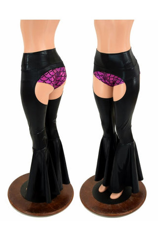 High Waist Bell Bottom Flare Chaps (Cheekies Not Included) - Coquetry Clothing