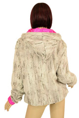 Minky Faux Fur Short Jacket - Coquetry Clothing