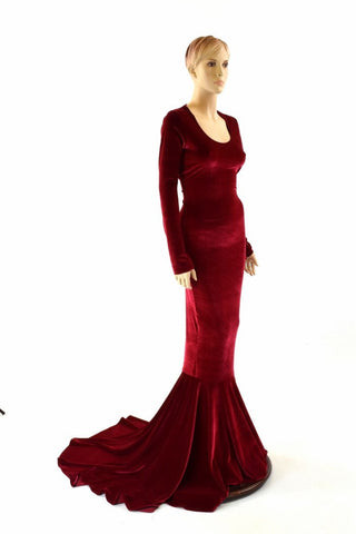 Red Velvet La Muerta Gown - Coquetry Clothing