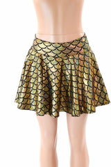"Gold Dragon Scale 15"" Circle Skirt - Coquetry Clothing"