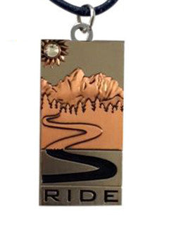 "*Pendant, Necklace or Keychain ""RIDE"" *Ladies"