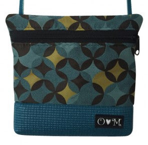 LOLA Teal Geometric Purse