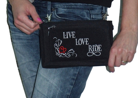 LIVE LOVE RIDE Cross Body Purse