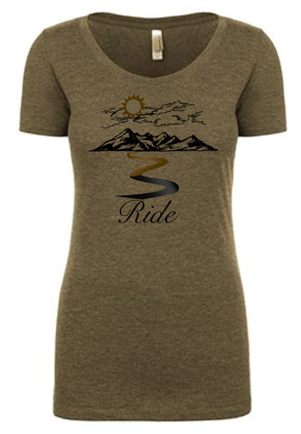 "Ladies ""RIDE"" T-Shirt"
