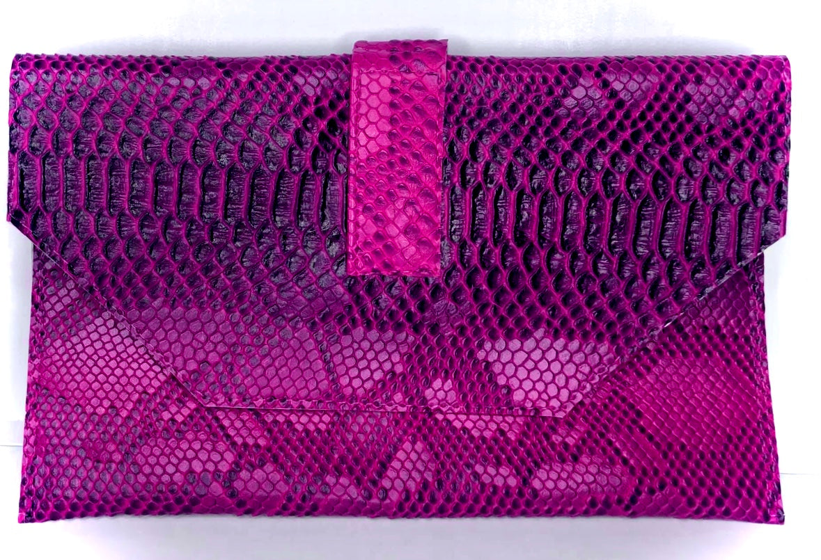 Jewelinx Pink Snakeskin Clutch