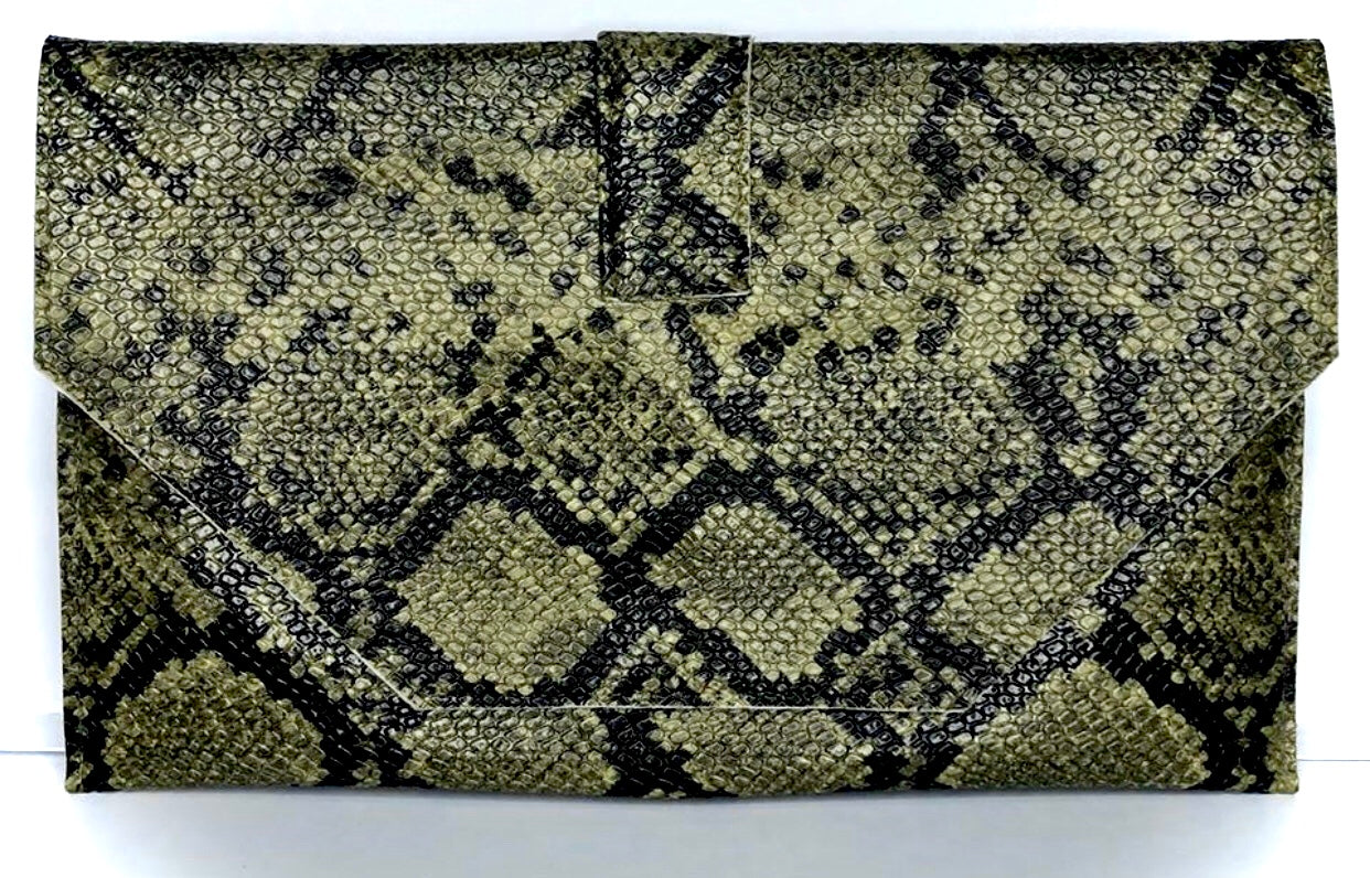 Jewelinx Green Camo Clutch