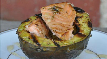 Grilled Avocado with Salmon