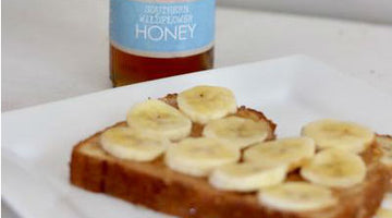 Peanut Butter Banana Honey Toast