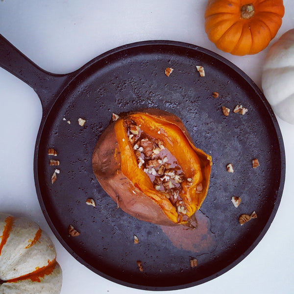 Baked Sweet Potato with Cinnamon Honey Butter Spread