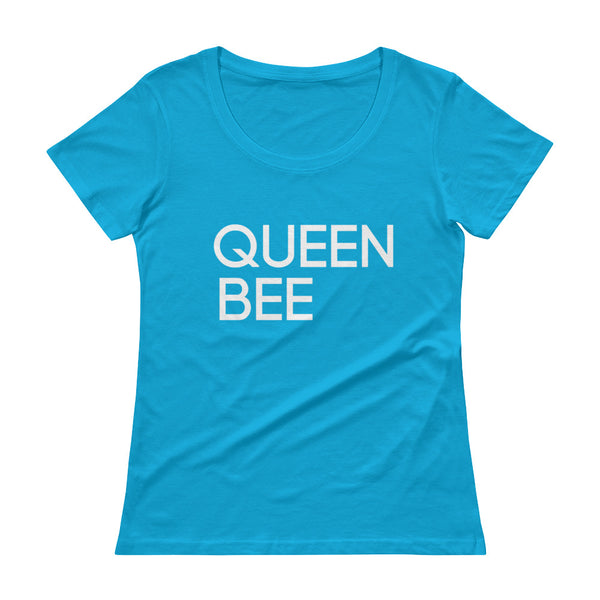 QUEEN BEE - Ladies' Scoopneck Tee - Classic City Bee Company