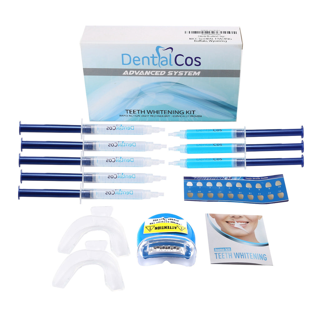 DentalCos Premium Teeth Whitening Kit with Remineralization Gel - Origini