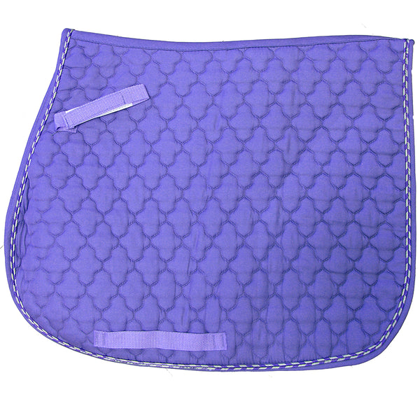 Quilted Violet with Purple and Silver Piping English All Purpose Pad