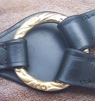 Draft Horse Black and Gold Portuguese Breastcollar - Sterling Steed Enterprises - 2