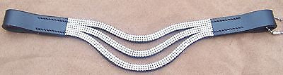 "14""  Large Pony/Arab Browband Black, three strands Crystals-Super Cute - Sterling Steed Enterprises"