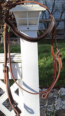 Large Draft Billy Cook Headstall-Burgundy - Sterling Steed Enterprises - 1