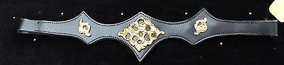 Baroque Style Browband, Black and Gold - Sterling Steed Enterprises - 1