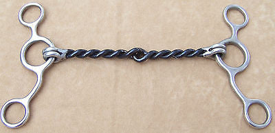 "Draft Horse SS Gag Bit with Twisted Sweet Iron Mouthpiece 6 3/4"" - Sterling Steed Enterprises - 1"