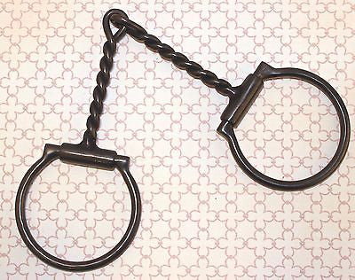 "Draft Horse Off Set Sweet Iron D-ring with Twisted Mouthpiece-7"" - Sterling Steed Enterprises"