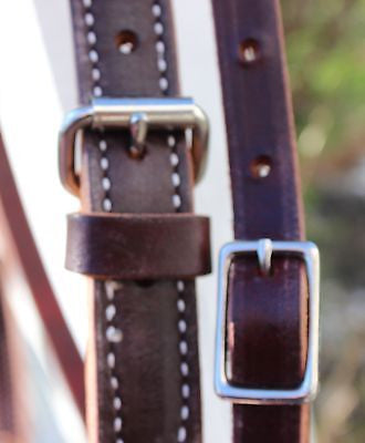 Large Draft Billy Cook Headstall-Burgundy - Sterling Steed Enterprises - 4