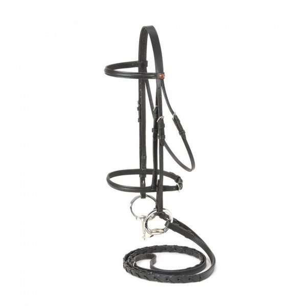 Mini, Pony, Horse, Full-Silver Fox Raised Snaffle Bridle - Sterling Steed Enterprises