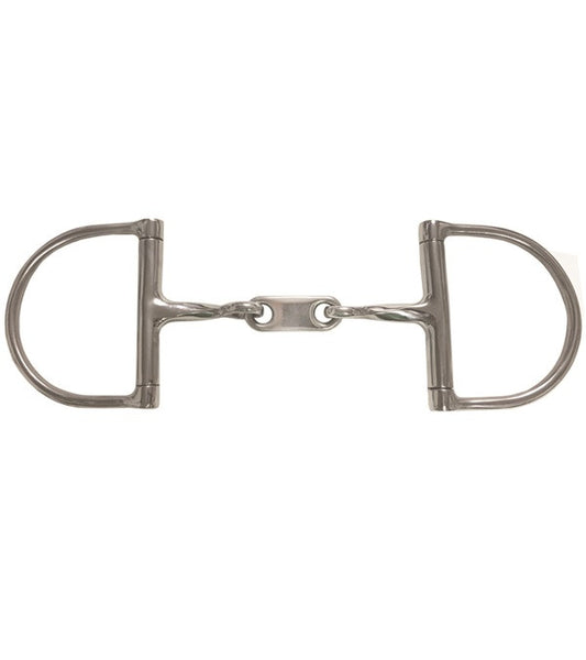 Dr.Bristol Twisted Double Jointed Mouth D-Ring Bit - Sterling Steed Enterprises