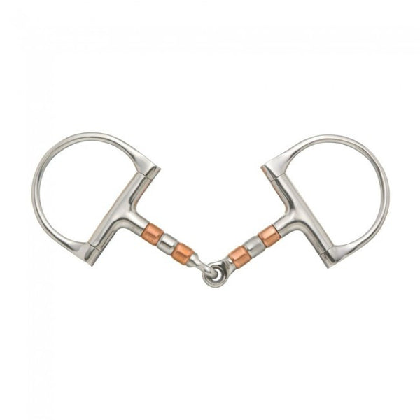 D-Ring Copper Roller Snaffle Bit - Sterling Steed Enterprises