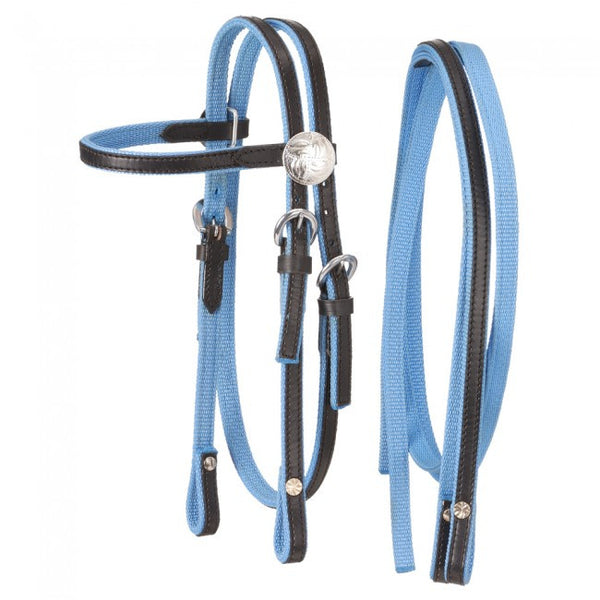 Miniature Nylon with Leather Bridle by King Series - Sterling Steed Enterprises