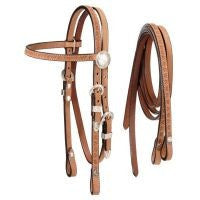 Roughout Headstall with Reins - Sterling Steed Enterprises