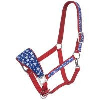Bronc Nose Horse Padded Halter with Star Print