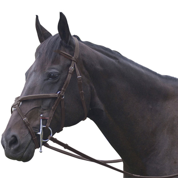 Exselle Elite Plain Raised Jumper Bridle Dark Havana